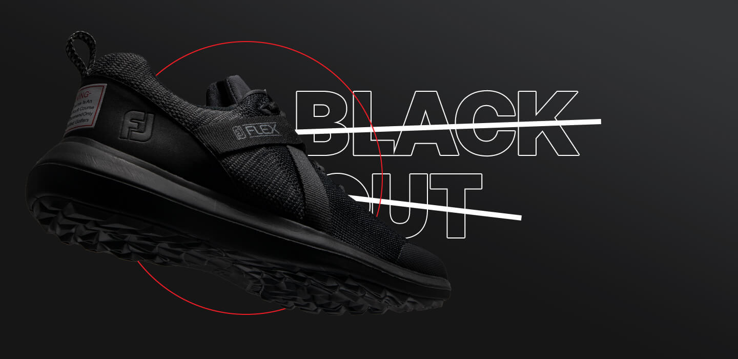 FJ FLEX Limited Edition Blackout Golf Shoe
